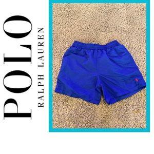 Polo Ralph Lauren blue swim suit trunks Med EUC